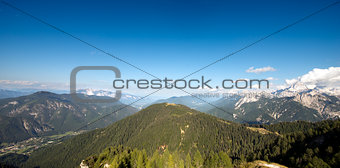Aerial view from Monte Lussari - Italy