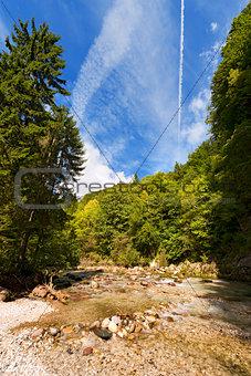 Slizza (Gailitz) River Canyon in Tarvisio Italy