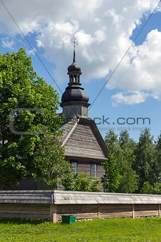 Old wooden church near Minsk, Belarus.