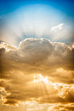Dramatic cloud with sunbeams