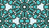 Seamless Blue Glass Pattern