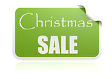 Christmas sale green sticker