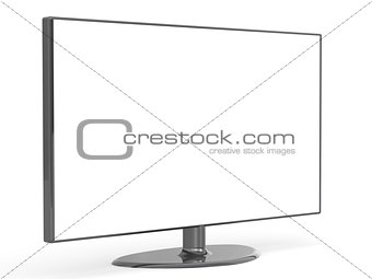 Flat TV set