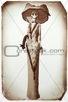 Catrina Day of the dead Vintage Photo