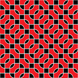 Seamless red and black vector pattern