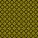 Vector texture - yellow elements on a black