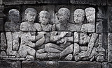 Ancient carving - Borobudur temple from Indonesia, Java