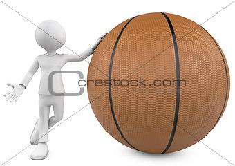 3d basketball, player and ball