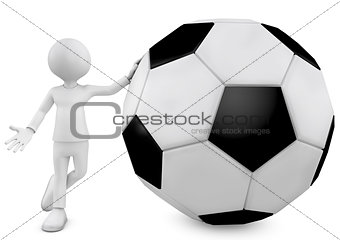 3d man and football ball
