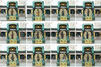 Anker clock in Vienna Austria