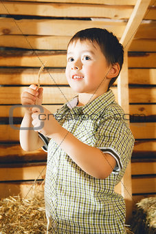 Boy on Hayloft