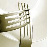 forks and plate