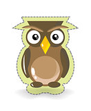 Cute Vector Owl Sticker