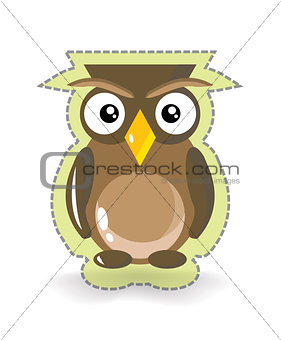 Cute Vector Owl Sticker