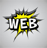 Comic book explosion bubble - web