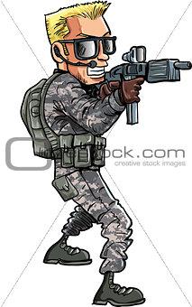 Cartoon soldier