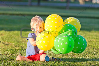 boy with the balloons