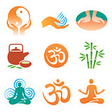 Massage  yoga  spa icons