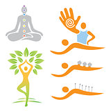 Yoga and alternative medicine symbols