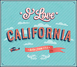 Vintage greeting card from California - USA.