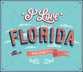 Vintage greeting card from Florida - USA.