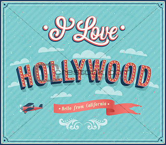 Vintage greeting card from Hollywood - California.