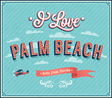 Vintage greeting card from Palm Beach - Florida.