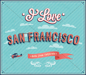 Vintage greeting card from San Francisco - California.