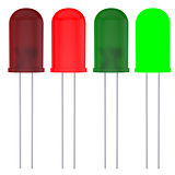 Red and green LEDs
