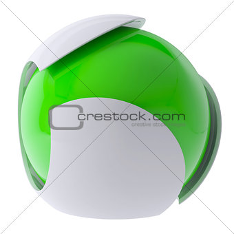 3d green abstract sphere