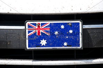 Australian flag on bumper