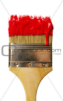paint brush with color drop. isolated on white