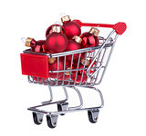 Shopping Cart With Christmas Balls