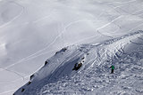 Skier on off-piste slope