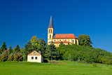 Zagreb green zone idyllic church