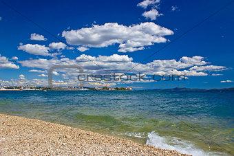 City of Zadar beach view