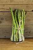 fresh green organic asparagus - spring vegetable