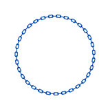Blue chain in shape of circle