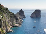 Landscape of the beautiful island Capri.