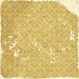 Grunge background with gold pattern