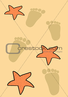 Footsteps and Starfish