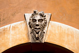 Grotesque Mask on an Old Arch Keystone - Verona Italy