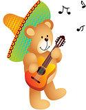 Mexican Musician Teddy Bear