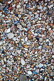 round colored sea pebbles