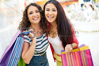 Consumers with handbags