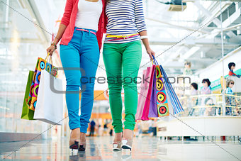 Shoppers in casual