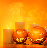 Halloween pumpkins border