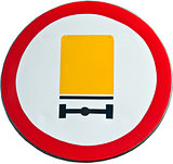 road sign prohibiting truck
