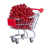 Shopping Cart Full With Red Beads