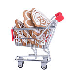 Shopping Cart With Gingerbread Cookies